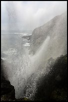 Marine geyser blowing up 100 feet, La Bufadora. Baja California, Mexico (color)