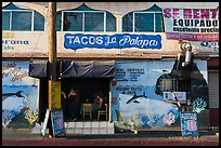 Fish taco restaurant, Ensenada. Baja California, Mexico (color)