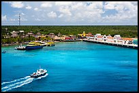 Cruise ship harbor, Puerta Maya. Cozumel Island, Mexico ( color)