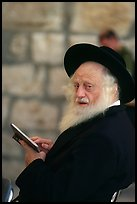 Elderly orthodox jew, Western (Wailling) Wall. Jerusalem, Israel