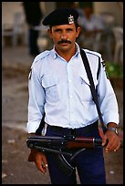 Palestinian Policeman, Jericho. West Bank, Occupied Territories (Israel) (color)