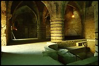 Medieval room of the Knights Hospitalliers quarters, Akko (Acre). Israel