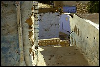 Walls and alley in the old city of Safed (Tzfat). Israel ( color)