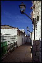 Alley with lanterns, Synagogue Quarter, Safed (Safad). Israel ( color)