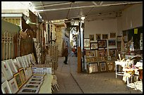 Paintings in Artist's shop, Artist Quarter, Safed (Zefad). Israel ( color)