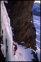Pictures of Waterfall Ice climbing