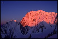 East Face of Mont-Blanc at sunrise, Italy. (color)