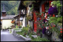 Quaint village of Le Tour, Chamonix Valley, Alps, France.