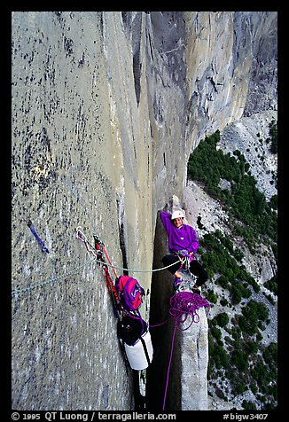 Terms Of Use >> Picture/Photo: Above Texas Flake. El Capitan, Yosemite, California