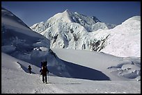 Up to the 14300 camp again. Denali, Alaska (color)