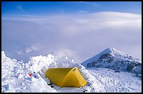 High-altitude camp on the West Rib  of Mt McKinley. Denali National Park ( color)
