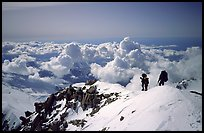 Mountaineers descend West Buttress of Mt McKinley. Denali National Park ( color)