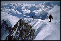 Mountaineers climb West Buttress of Mt McKinley. Denali National Park ( color)