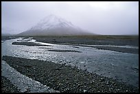 Gravel bars of the Toklat River. Denali National Park, Alaska, USA. (color)