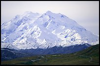 North Face of Mt McKinley above Thorofare Pass. Denali National Park ( color)