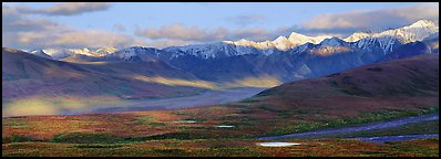 Evening light on Alaska Range. Denali  National Park (Panoramic color)