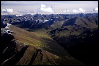 Aerial view of mountains. Gates of the Arctic National Park, Alaska, USA. (color)