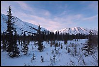 Brooks range, winter sunset. Gates of the Arctic National Park ( color)