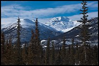 Boreal forest and snowy Brooks Range. Gates of the Arctic National Park ( color)