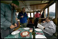 Appetizer served in the main cabin of the Kahsteen. Glacier Bay National Park ( color)