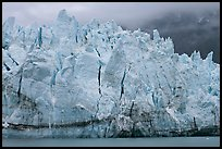 Blue ice on the tidewater terminus of Margerie Glacier. Glacier Bay National Park ( color)