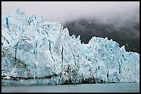 Front of Margerie Glacier in foggy weather. Glacier Bay National Park, Alaska, USA. (color)