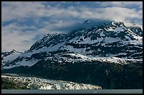 Mt Cooper and Lamplugh glacier, late afternoon. Glacier Bay National Park, Alaska, USA. (color)