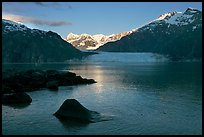 Mount Fairweather, Margerie Glacier, Mount Forde, and Tarr Inlet, early morning. Glacier Bay National Park ( color)