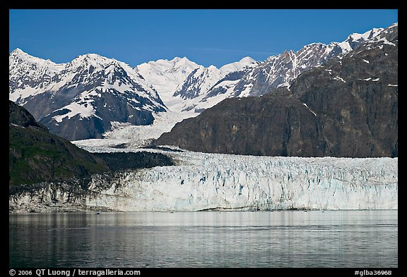 Margerie Glacier flowing from Mount Fairweather into Tarr Inlet. Glacier Bay National Park (color)