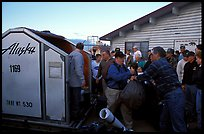 Baggage claim, King Salmon. Katmai National Park, Alaska, USA. (color)