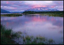 Sunset on the Brooks river. Katmai National Park ( color)