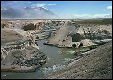 Gorge at the convergence of  Lethe and Knife rivers, Valley of Ten Thousand smokes. Katmai National Park ( color)
