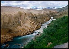 The Lethe river carved a deep gorge into the ash of the Valley of Ten Thousand smokes. Katmai National Park ( color)