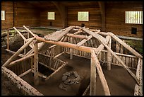 Cultural site with reconstruction of Native dwelling. Katmai National Park ( color)