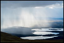 Rain showers above lakes. Katmai National Park ( color)