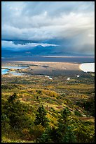 Brooks River area in autumn from above. Katmai National Park ( color)
