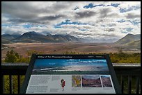 Valley of Ten Thousand Smokes intepretive sign. Katmai National Park ( color)