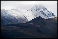 Snowy peaks rising above Valley of Ten Thousand Smokes. Katmai National Park ( color)