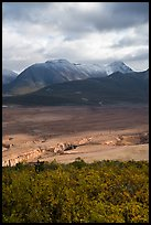 Lethe gorge, Valley of Ten Thousand Smokes, and mountains. Katmai National Park ( color)
