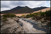 Ukak River flowing on rock bed, Valley of Ten Thousand Smokes. Katmai National Park ( color)