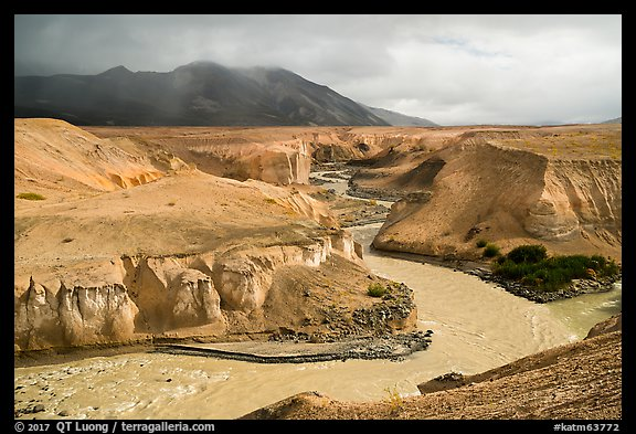 Three Forks Confluence, Valley of Ten Thousand Smokes. Katmai National Park (color)