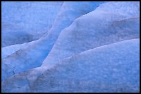 Blue ice nuances at the terminus of Exit Glacier. Kenai Fjords National Park ( color)