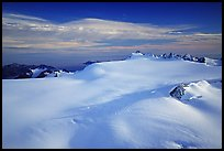 Aerial view of vast glacial system and fjords. Kenai Fjords National Park ( color)