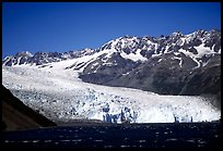 Tidewater glacier and mountains. Kenai Fjords National Park, Alaska, USA. (color)