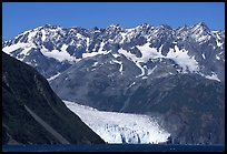 Aialik Glacier, fjord,  and steep mountains. Kenai Fjords National Park ( color)
