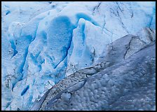 Grey and blue ice detail at the terminus of Exit Glacier. Kenai Fjords National Park ( color)