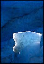 Glacial ice detail at the terminus of Exit Glacier. Kenai Fjords National Park ( color)