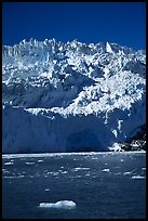 Front of Aialik Glacier, Aialik Bay. Kenai Fjords National Park, Alaska, USA. (color)