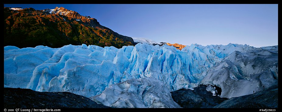 Glacier with blue ice. Kenai Fjords National Park (color)
