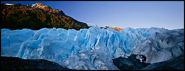 Glacier with blue ice. Kenai Fjords National Park (Panoramic color)